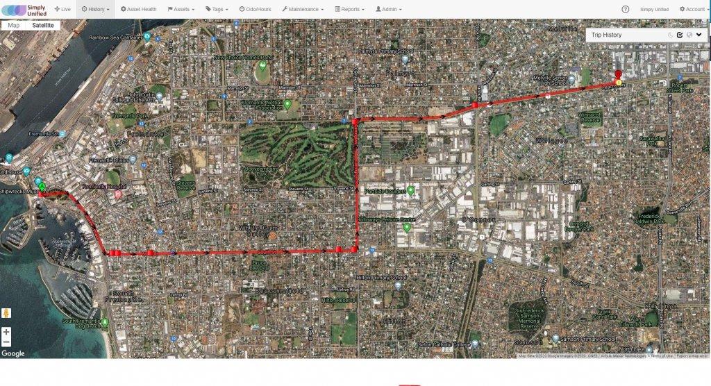 historic trip satellite view