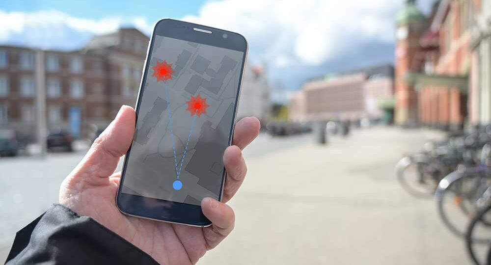 smartphone with gps tracking